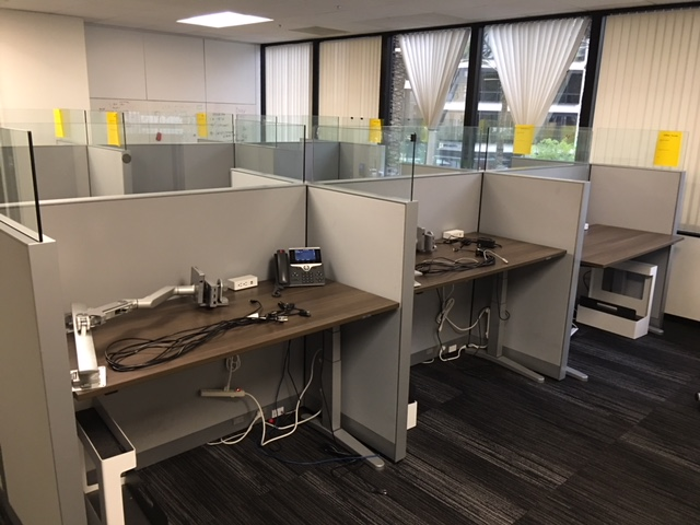 Steelcase Height Adjustable Benching Stations